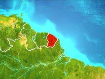 Carte de la Guyane française française Images libres de droits