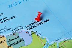 Carte de la Guyane française française Photos stock