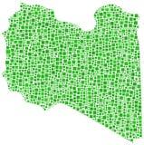 Carte de la Libye Photo libre de droits