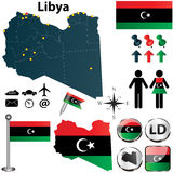 Carte de la Libye Photographie stock libre de droits