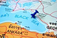 Carte de la Mer Noire Image libre de droits