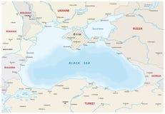 Carte de la Mer Noire illustration libre de droits