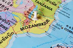 Carte de la Mozambique Photos stock