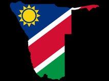 Carte de la Namibie Photographie stock libre de droits