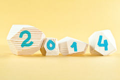 Carte de la nouvelle année 2014 Photos stock