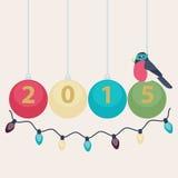 Carte de la nouvelle année 2015 Photo libre de droits
