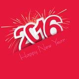 Carte de la nouvelle année 2016 Images stock