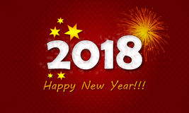 Carte de la nouvelle année 2018 Photos stock