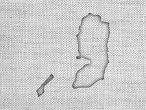 Carte de la Palestine sur la vieille toile Photo libre de droits