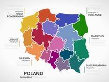 Carte de la Pologne Image libre de droits
