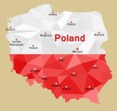 Carte de la Pologne Photographie stock libre de droits