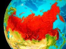 Carte de la Russie en rouge illustration de vecteur