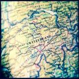Carte de la Suisse Image stock