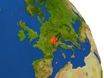Carte de la Suisse en rouge illustration libre de droits