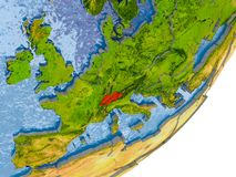 Carte de la Suisse sur terre Images libres de droits