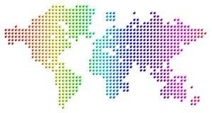 Carte de la terre des sphères en verre spectrales Images libres de droits