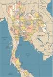 Carte de la Thaïlande - illustration de vecteur de vintage Image libre de droits