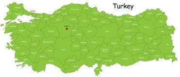 Carte de la Turquie Photographie stock libre de droits