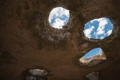 Carte de la ville antique de caverne d'Eski-Kermen Images libres de droits