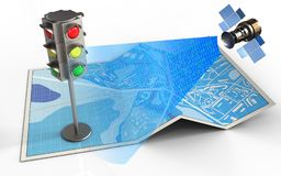 carte de la ville 3d illustration stock