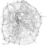 Carte de la ville de Rome, Italie illustration libre de droits