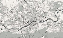 Carte de la ville de Francfort sur Main, Hesse, Allemagne illustration stock