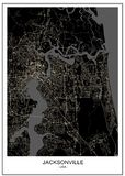 Carte de la ville de Jacksonville, la Floride, Etats-Unis illustration stock