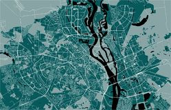 Carte de la ville de Kiev, Ukraine illustration de vecteur