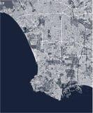 Carte de la ville de Los Angeles, Etats-Unis illustration de vecteur