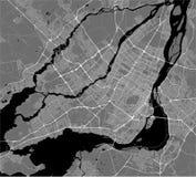 Carte de la ville de Montréal, Canada illustration stock