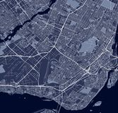 Carte de la ville de Montréal, Canada illustration libre de droits
