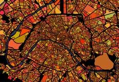 Carte de la ville de Paris, France illustration de vecteur