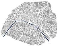Carte de la ville de Paris, France illustration libre de droits