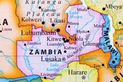 Carte de la Zambie photo libre de droits