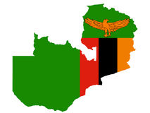 Carte de la Zambie Photos libres de droits