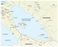Carte de lac nicaragua Image stock