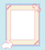 Carte de lapin Images stock