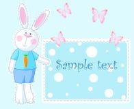 Carte de lapin illustration de vecteur