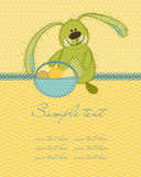 Carte de lapin de Pâques Photographie stock