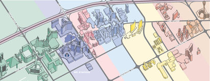 Carte de Las Vegas illustration stock