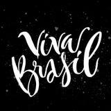 Carte de lettrage de main Brésil image stock