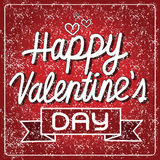 Carte de lettrage heureuse de Saint-Valentin, illustration de vecteur illustration libre de droits