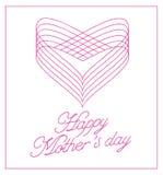 Carte de lettrage heureuse du jour de mères Photos stock
