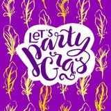 Carte de lettrage de Mardi Gras Photos libres de droits