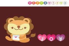 Carte de lion illustration stock