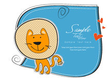 Carte de lion de bébé Photos stock