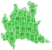 Carte de Lombardia (Italie) Image libre de droits