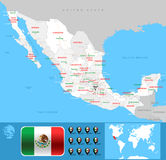 Carte de México illustration stock