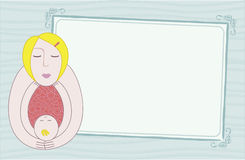 Carte de mère et de chéri Images stock