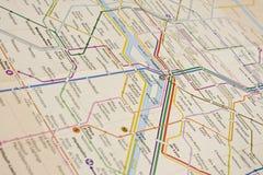 Carte de métro photographie stock libre de droits